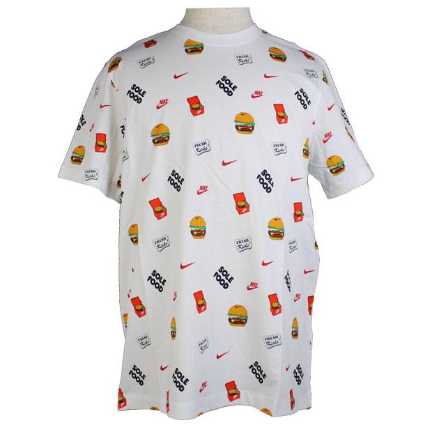 NSW フード AOP #1 半袖Tシャツ  dc9183-100 ホワイト
