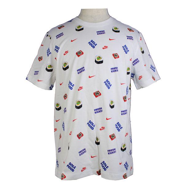 NSW フード AOP #3 半袖Tシャツ  dc9185-100 ホワイト