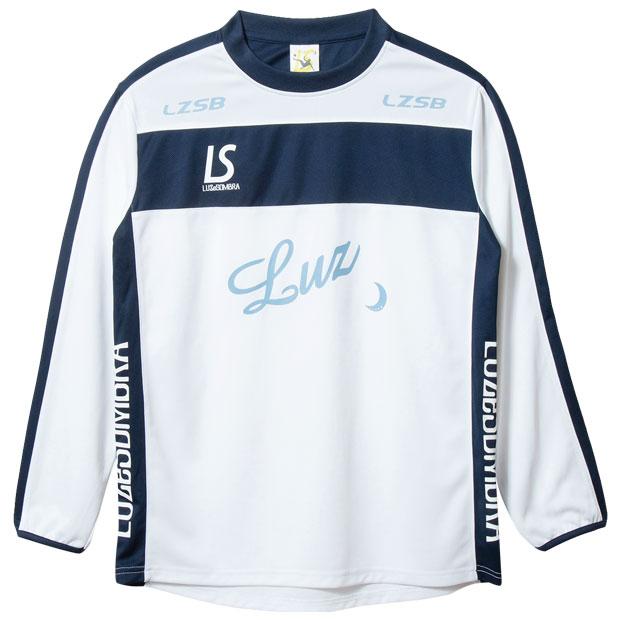 BROAD LINE LOGO 長袖プラクティスシャツ  f1811005-wnv ホワイト×ネイビー