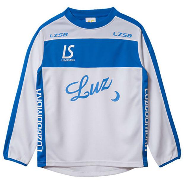 ジュニア BROAD LINE LOGO 長袖プラクティスシャツ  f1821006-whtabl ホワイト×ATMブルー