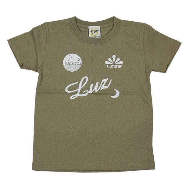 ジュニア スタンダード半袖Tシャツ  f1822033-skhkwt Sカーキ×ホワイト