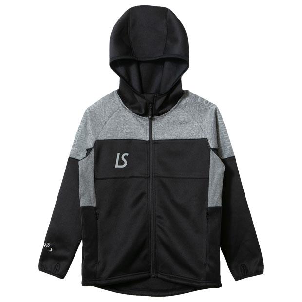 ジュニア シングルフェイスジャージ フーディフルジップジャケット  f1921115-blk ブラック