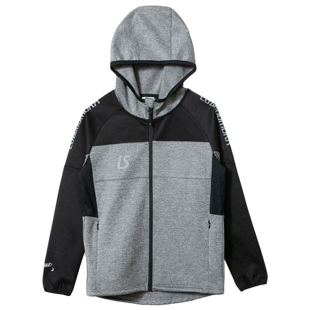 ジュニア シングルフェイスジャージ フーディフルジップジャケット  f1921115-mokgry 杢グレー