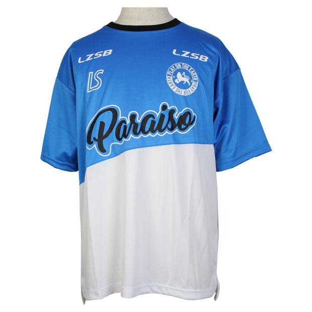 フッチボルパライーソクラブ 半袖プラクティスシャツ  f2011012-ablwht ATMブルー×ホワイト