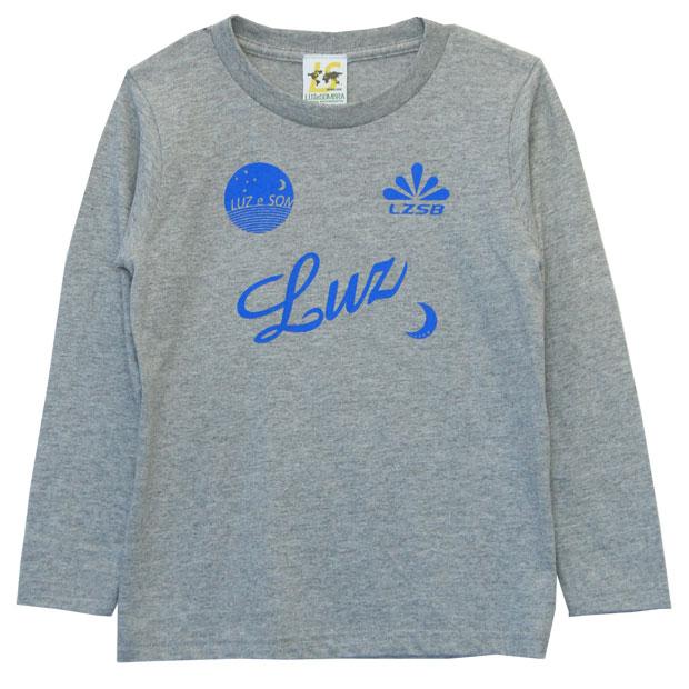 ジュニア スタンダード 長袖Tシャツ  f2022032-mgylbl Mグレー×Lブルー