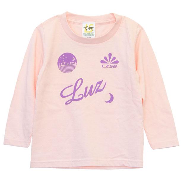 ジュニア スタンダード 長袖Tシャツ  f2022032-pnklpl ピンク×Lパープル