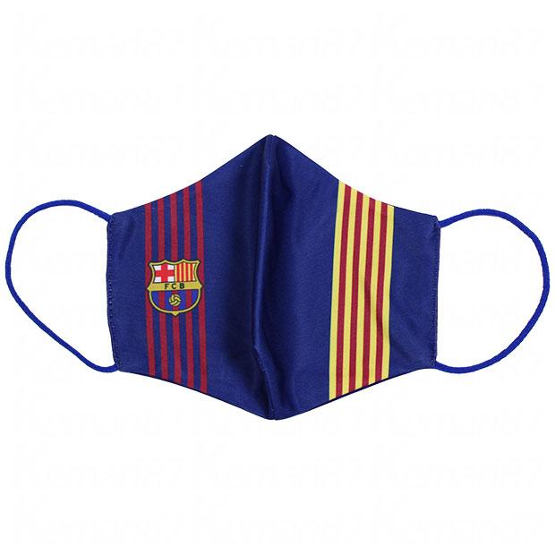 FCバルセロナ マスク  fcbmasc3t-a ブルー