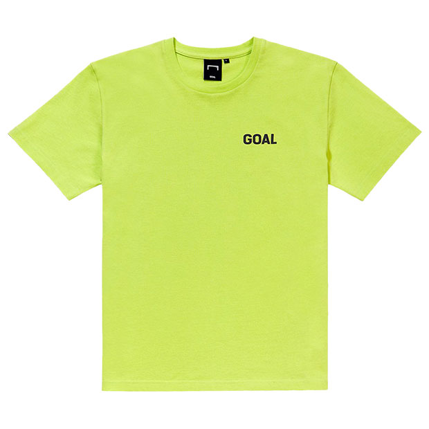 サッカーフィールド 半袖Tシャツ  g19mmb1ts07-lim ライム