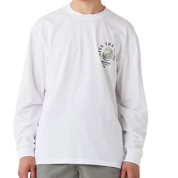 マッドキャットスFC コイングラフィック 長袖Tシャツ  g20muc1tl03-wht ホワイト