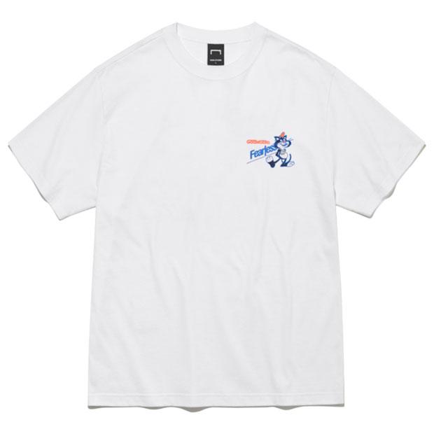 フィアレス ビッグキャット シリアルボックス 半袖Tシャツ  g21muc1ts73-wht ホワイト