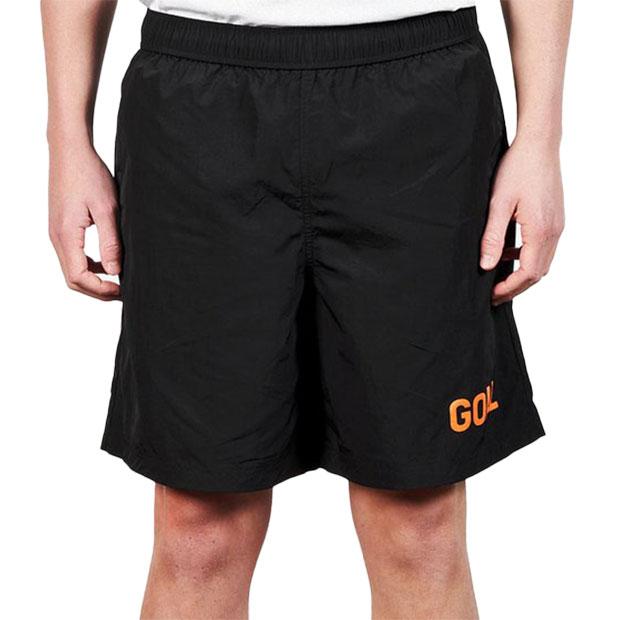 ロゴプリント ナイロンショーツ  g21sus1hp01-blk ブラック