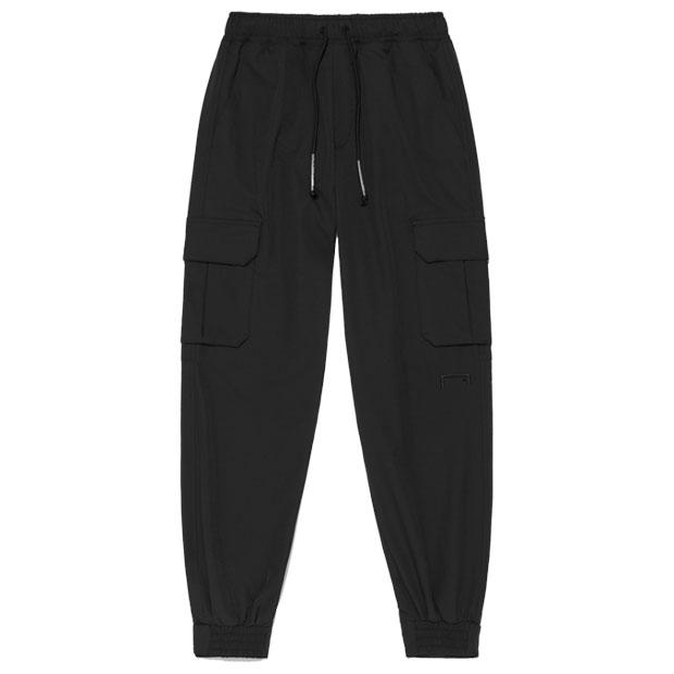シグネイチャー ロゴ ストレッチ カーゴパンツ  g21xus1pt21-blk ブラック