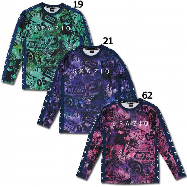 コラージュ柄ロングプラクティスシャツ  ge-0616