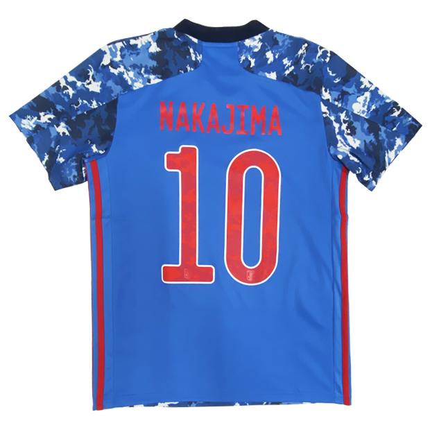 サッカー日本代表 2020 ホーム レプリカ ユニフォーム 半袖  gem11-10-nakajima ed7350