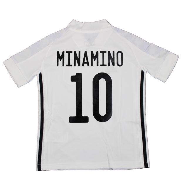 ジュニア KIDS サッカー日本代表 2020 アウェイ レプリカ ユニフォーム 半袖 ed7358 10.南野拓実 gem19-10-minamino