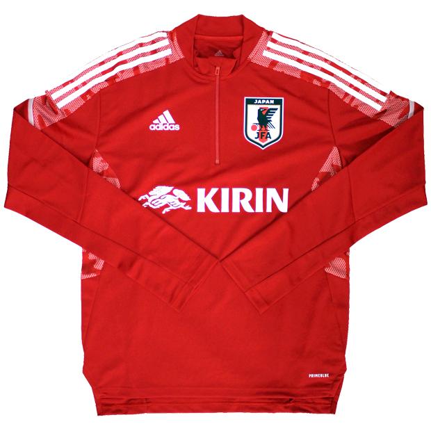 サッカー日本代表 トレーニングトップ  hkz10-ex5980 レッド