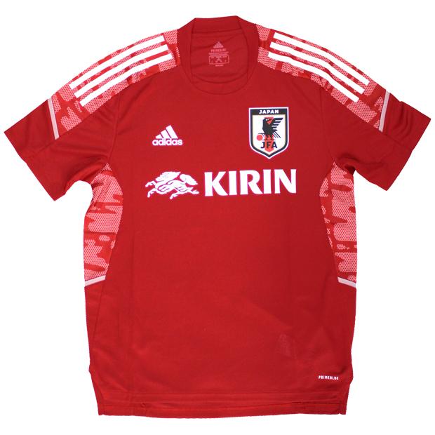 サッカー日本代表 トレーニングジャージー  hkz11-ex5981 レッド