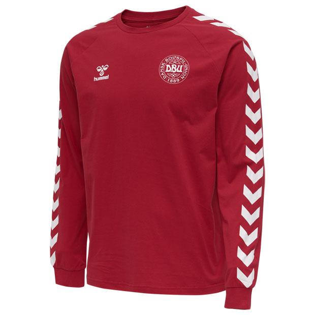 デンマーク代表 コットン長袖Tシャツ  hm208008-3365 タンゴレッド