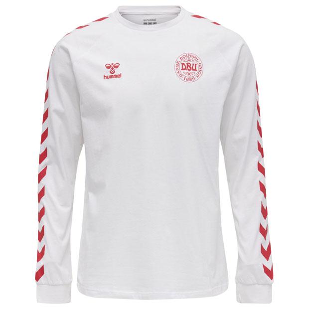 デンマーク代表 コットン長袖Tシャツ  hm208008-9001 ホワイト
