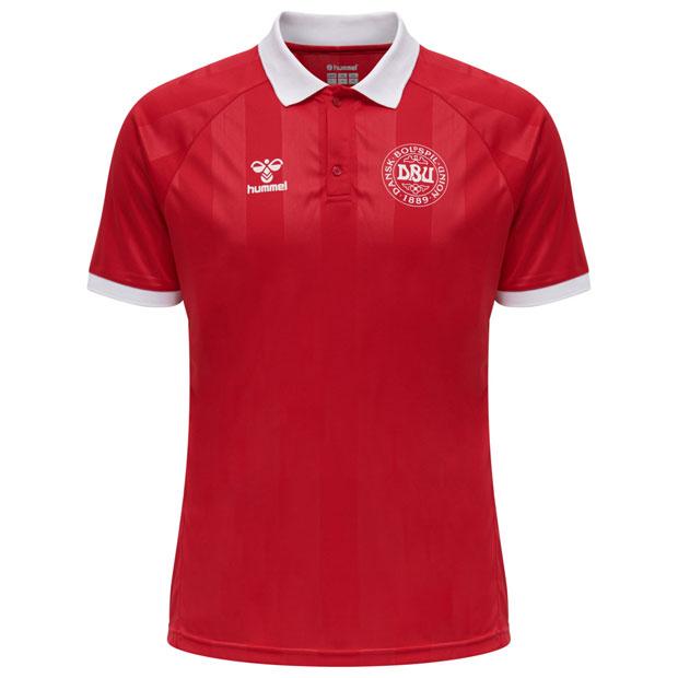 デンマーク代表 半袖ポロシャツ  hm208014-3365 タンゴレッド