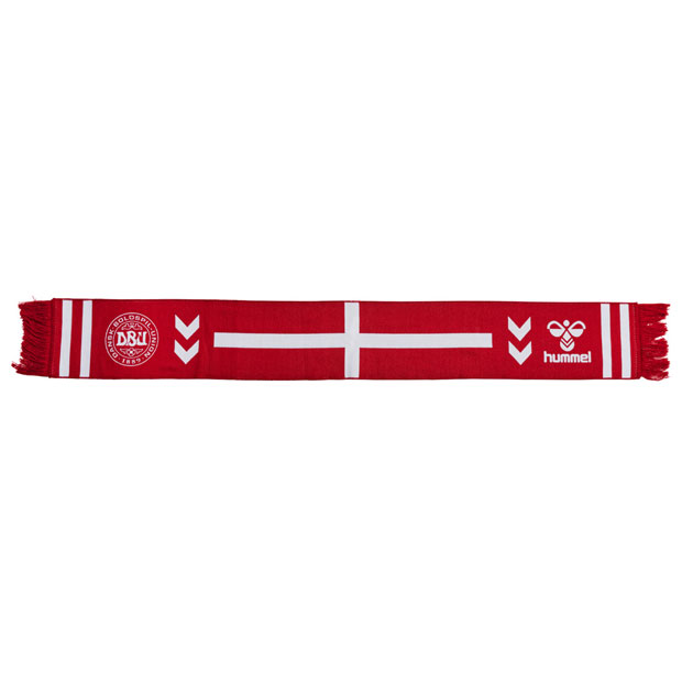 デンマーク代表 ヘビースカーフ  hm208027-3681 レッド×ホワイト