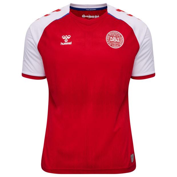 デンマーク代表 20-21 ホーム 半袖レプリカユニフォーム  hm208342-3365