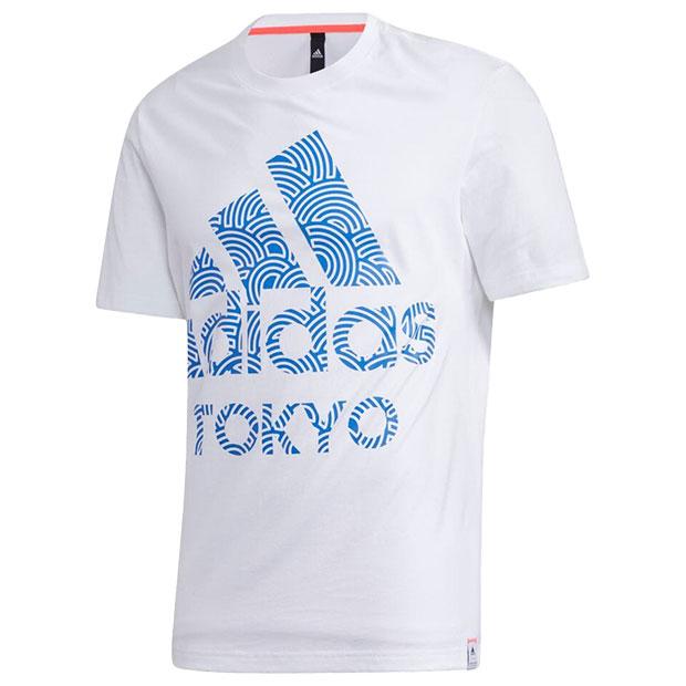 TOKYO PACK 半袖Tシャツ  iwv51-gd5007 ホワイト×トゥルーブルー