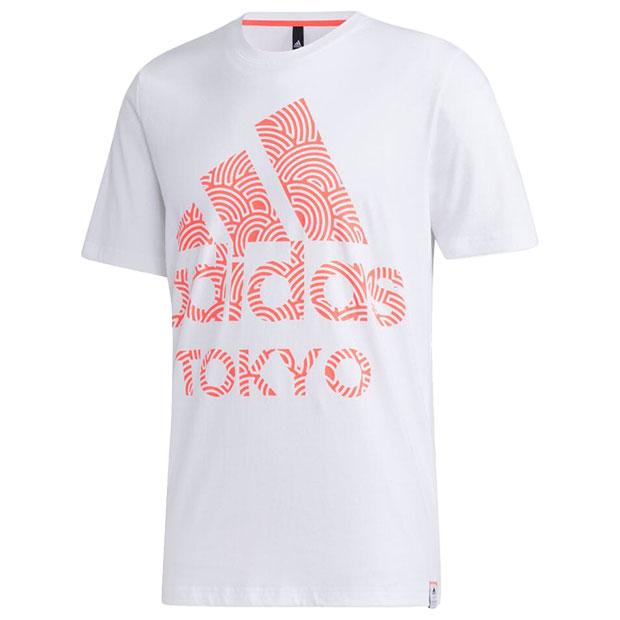 TOKYO PACK 半袖Tシャツ  iwv51-gd5008 ホワイト×シグナルピンク