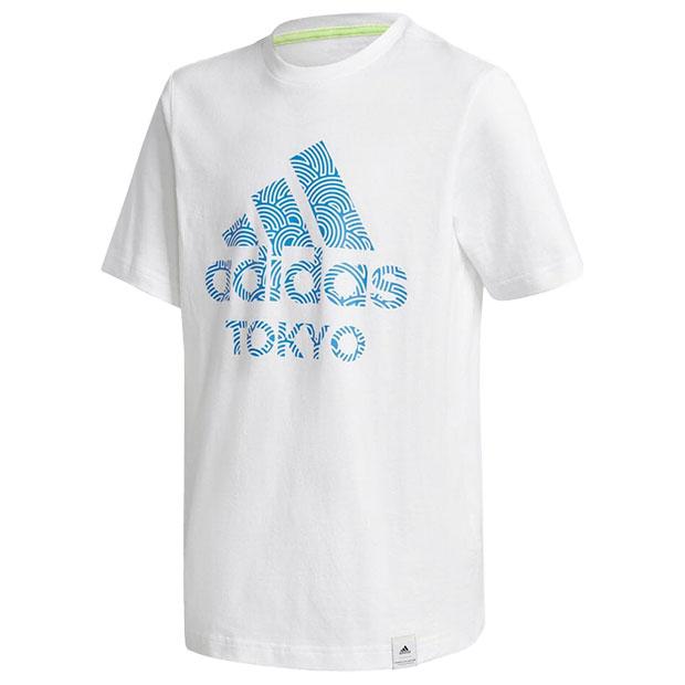 ジュニア TOKYO PACK 半袖Tシャツ  iwv53-gd4992 ホワイト×トゥルーブルー