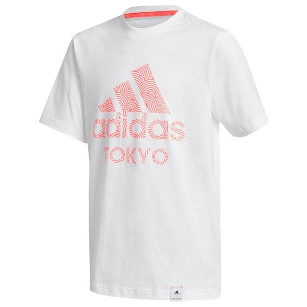 ジュニア TOKYO PACK 半袖Tシャツ  iwv53-gd4993 ホワイト×シグナルピンク