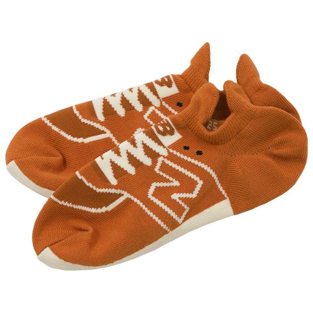 スニーカーソックス  jasl8222-moe マドラスオレンジ