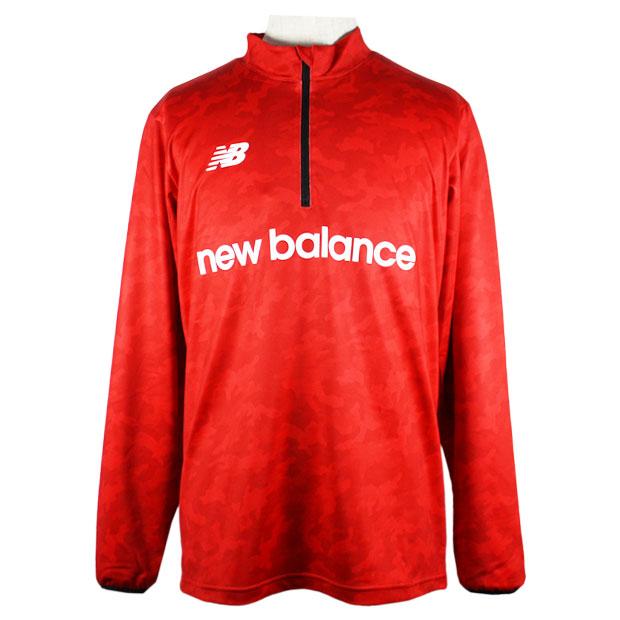 ハーフジップウォームアップ長袖Tシャツ  jmtf0409-red レッド