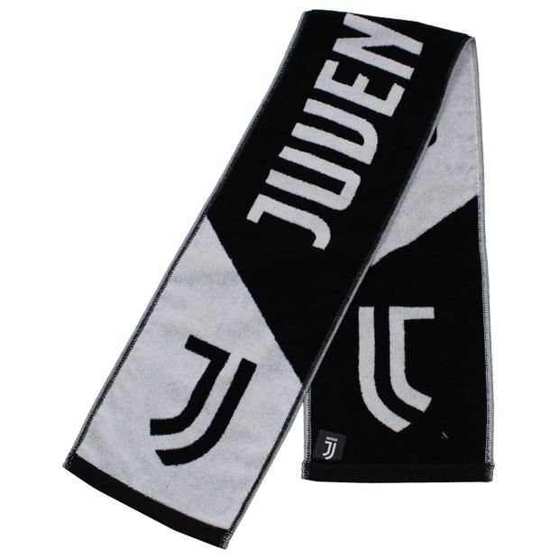 ユベントス タオルマフラー  juv34388 ホワイト×ブラック