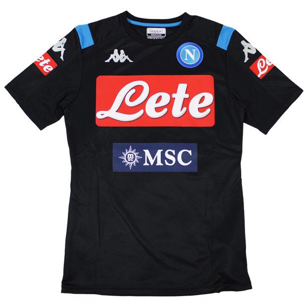 ナポリ 19-20 半袖トレーニングシャツ  kf952ts51g-bk ブラック