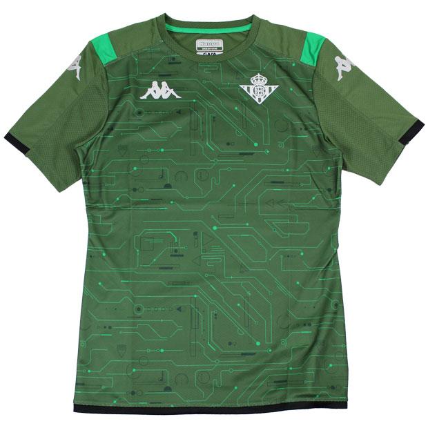 レアルベティス 半袖トレーニングシャツ  kf952ts56g-gn グリーン