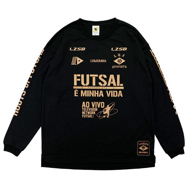 FD FUTEBOLISTA コットンライク長袖Tシャツ  l1212002-blk ブラック