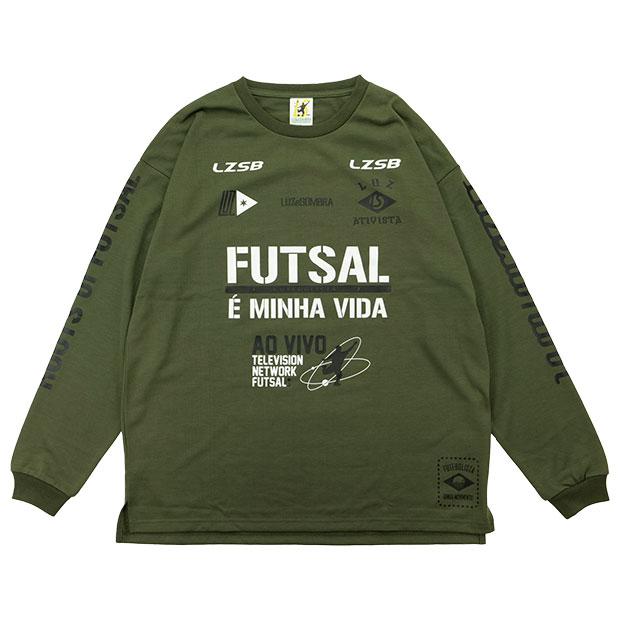 FD FUTEBOLISTA コットンライク長袖Tシャツ  l1212002-khk カーキ