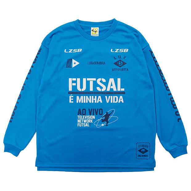 FD FUTEBOLISTA コットンライク長袖Tシャツ  l1212002-tblu ターコイズブルー
