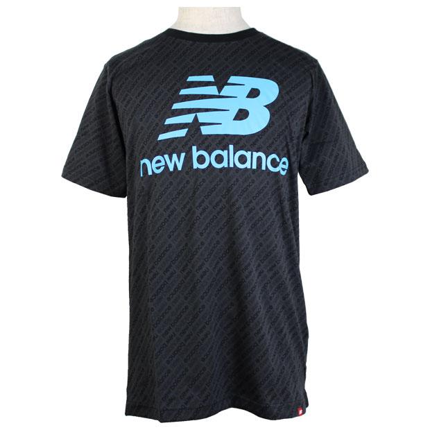 Essentials 総柄スタックドロゴ半袖Tシャツ  mt11532-vls バーチャルスカイ