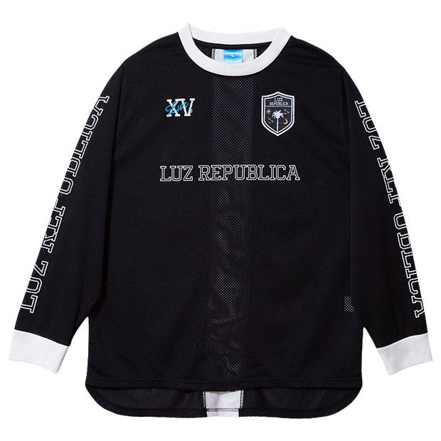 リパブリカメッシュ長袖シャツ  o2011002-blk ブラック