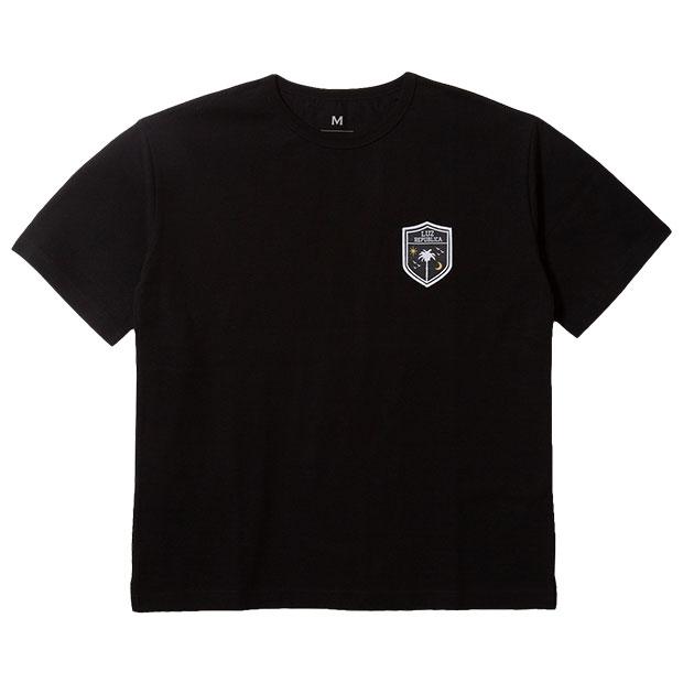 リパブリカワッペン半袖Tシャツ  o2012003-blk ブラック