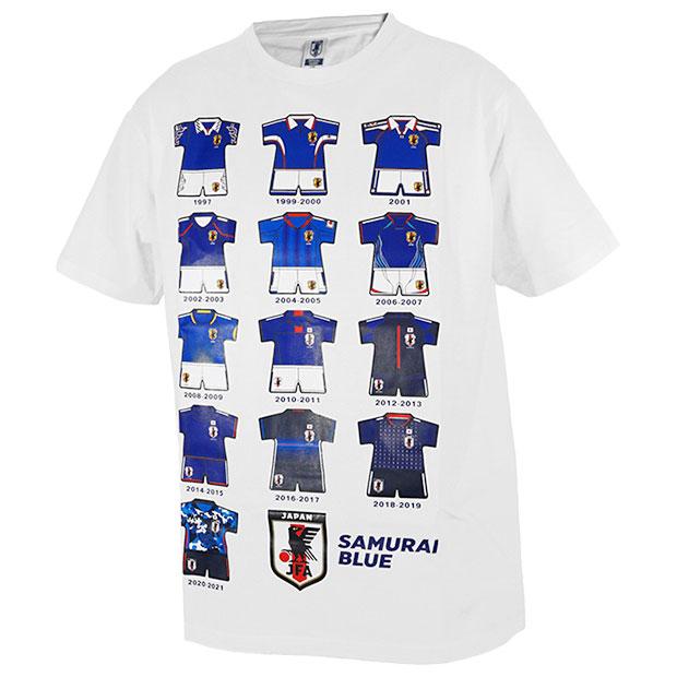 日本代表 歴代ユニフォームイラスト半袖Tシャツ  o6-307-10