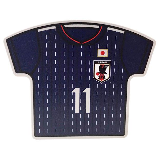 日本代表 ユニフォーム型クリップマグネット No.11  oo-551
