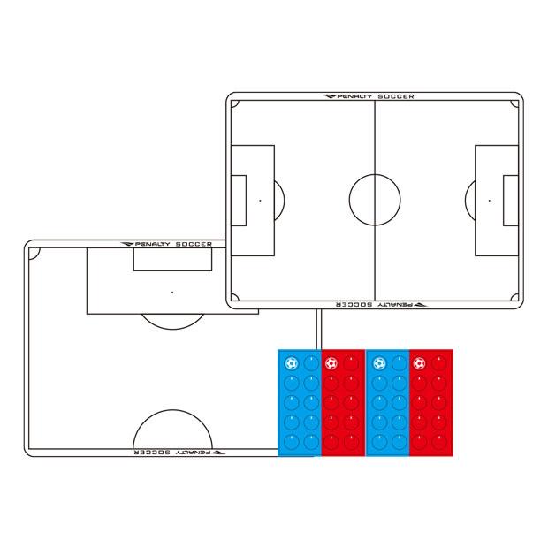 サッカー A4作戦盤  pe9407