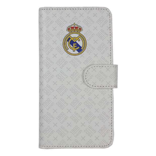レアルマドリッド 手帳型スマホカバー iPhoneX用  rm32185 ホワイト
