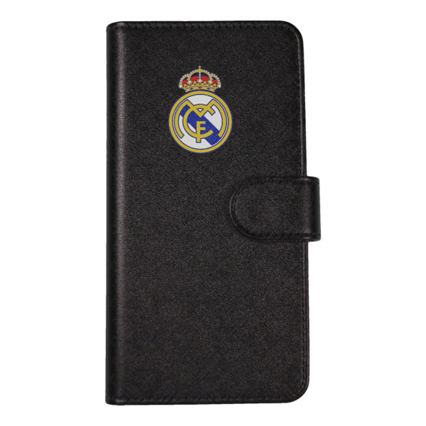レアルマドリッド 手帳型スマホカバー iPhoneX/XS用  rm33394 ブラック