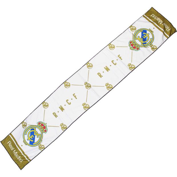 レアルマドリッド クールタオル  rm34194 ホワイト×ゴールド