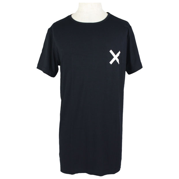 ワンポイントTシャツ  ssb08702 ブラック