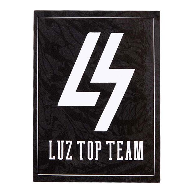 LUZ TOP TEAM ロゴステッカー  t2014906-blk ブラック