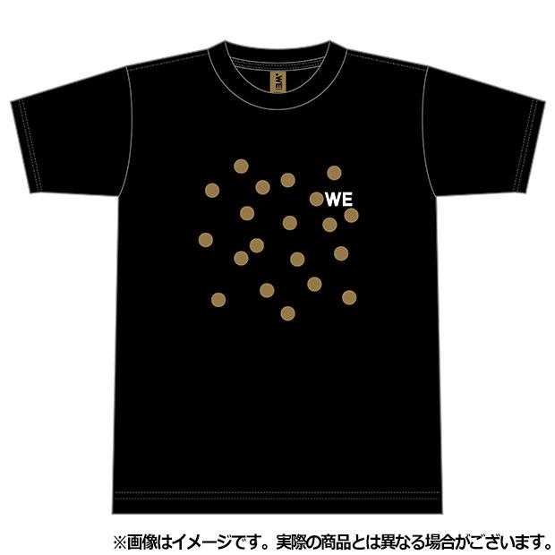 WE LEAGUE ドット半袖Tシャツ  wel35020-23 ブラック